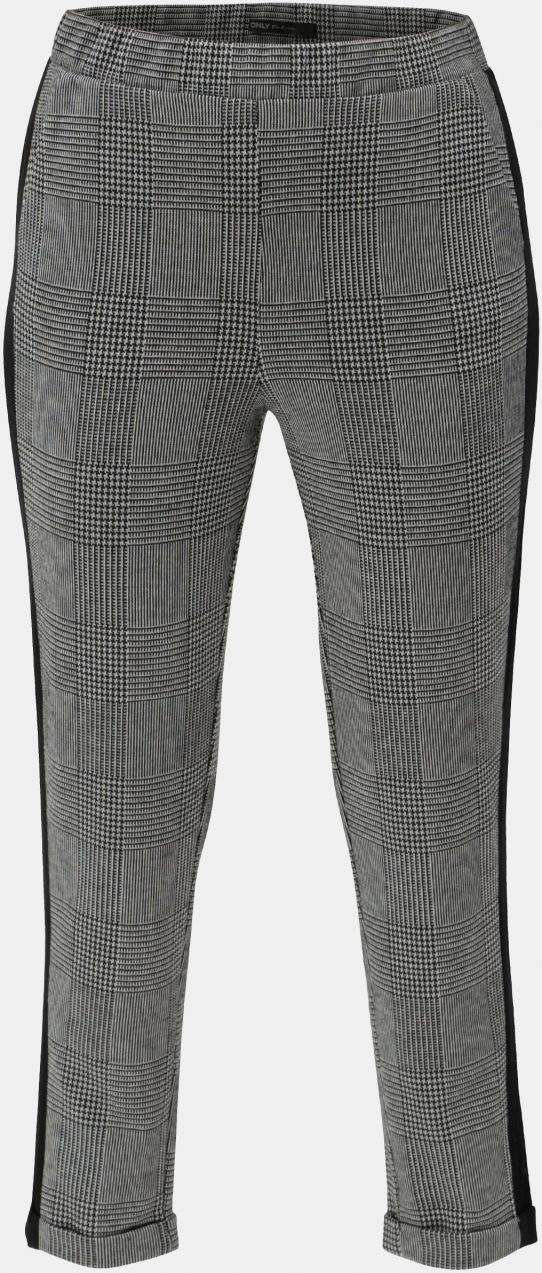 7927e3dc4ea3 Sivé kockované skrátené nohavice s vysokým pásom ONLY Pollie značky ...