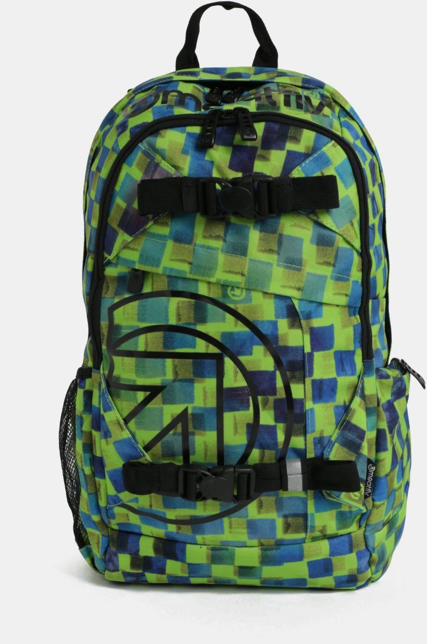 Modro-zelený pánsky kockovaný batoh Meatfly Basejumper 3 20 l značky  Meatfly - Lovely.sk fe7e6b87f3a