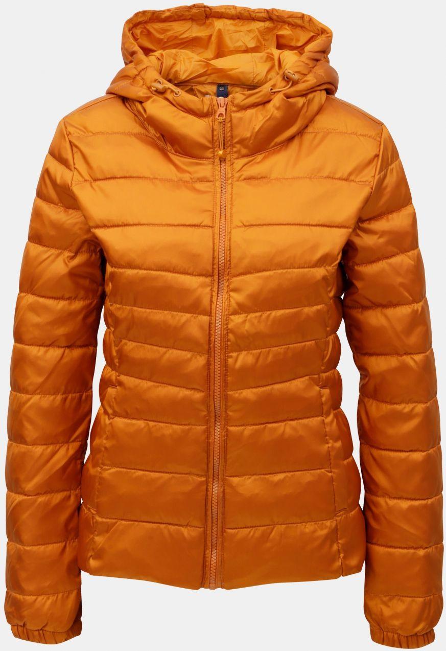 Oranžová prešívaná tenká bunda ONLY Tahoe značky ONLY - Lovely.sk 0961cb54c64