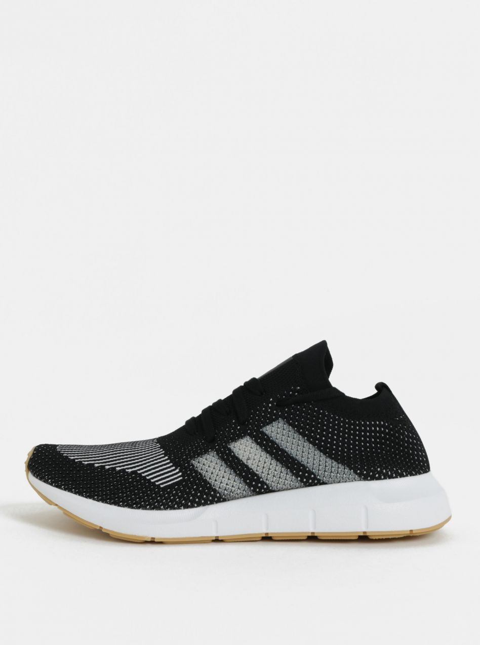 Bielo-čierne pánske tenisky adidas Originals Swift Run PK značky ... 94cf5796ad8
