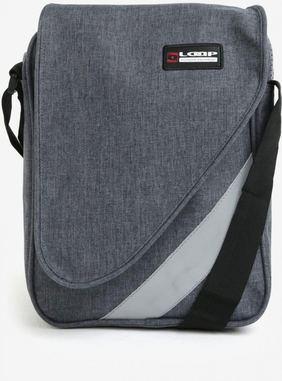 fa1b61404b540 Sivá crossbody taška s chlopňou LOAP Flyer značky LOAP - Lovely.sk