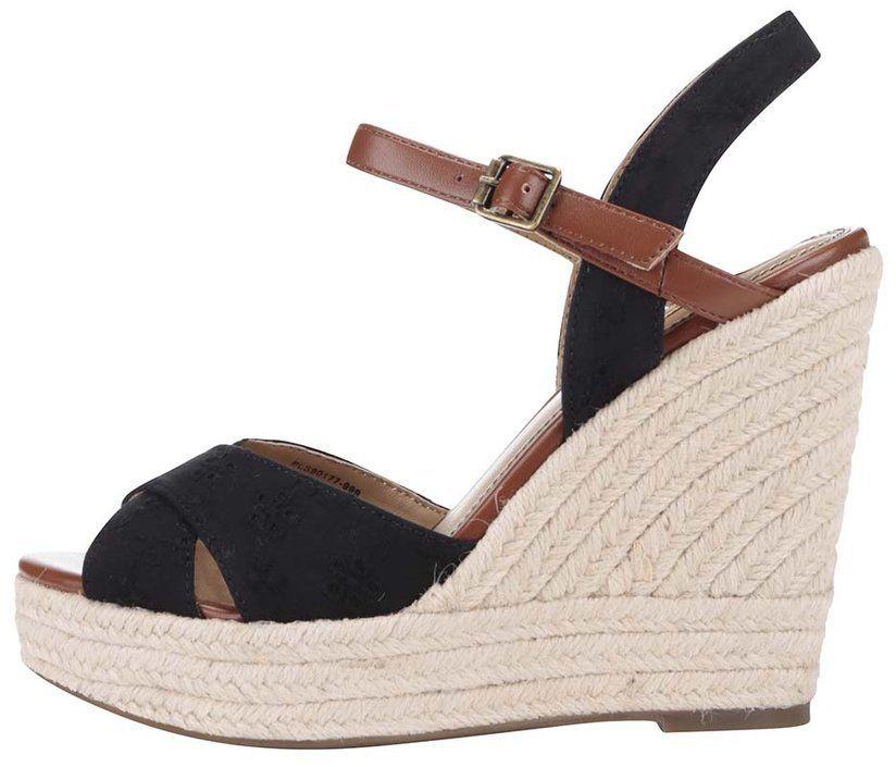 01bb701fba2b Čierne dámske sandále na platforme Pepe Jeans značky Pepe Jeans ...