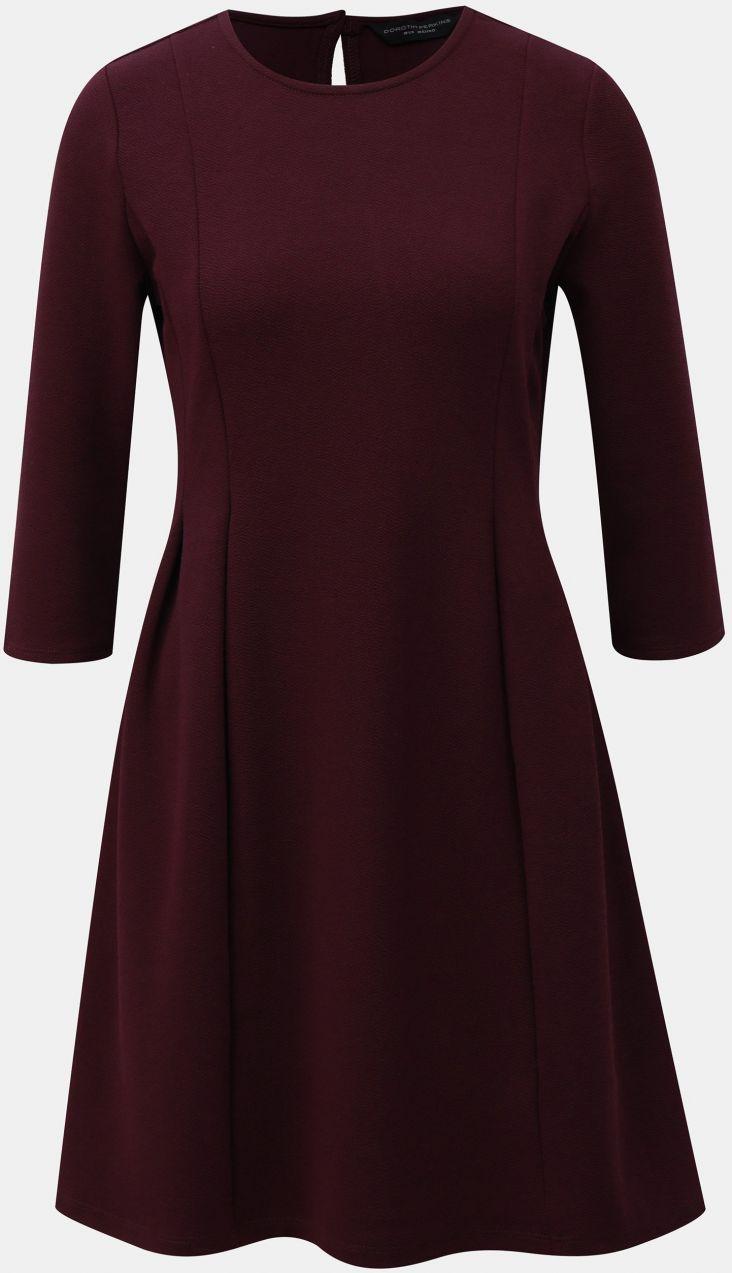 696927bf2 Fialové šaty s 3/4 rukávom Dorothy Perkins značky Dorothy Perkins -  Lovely.sk