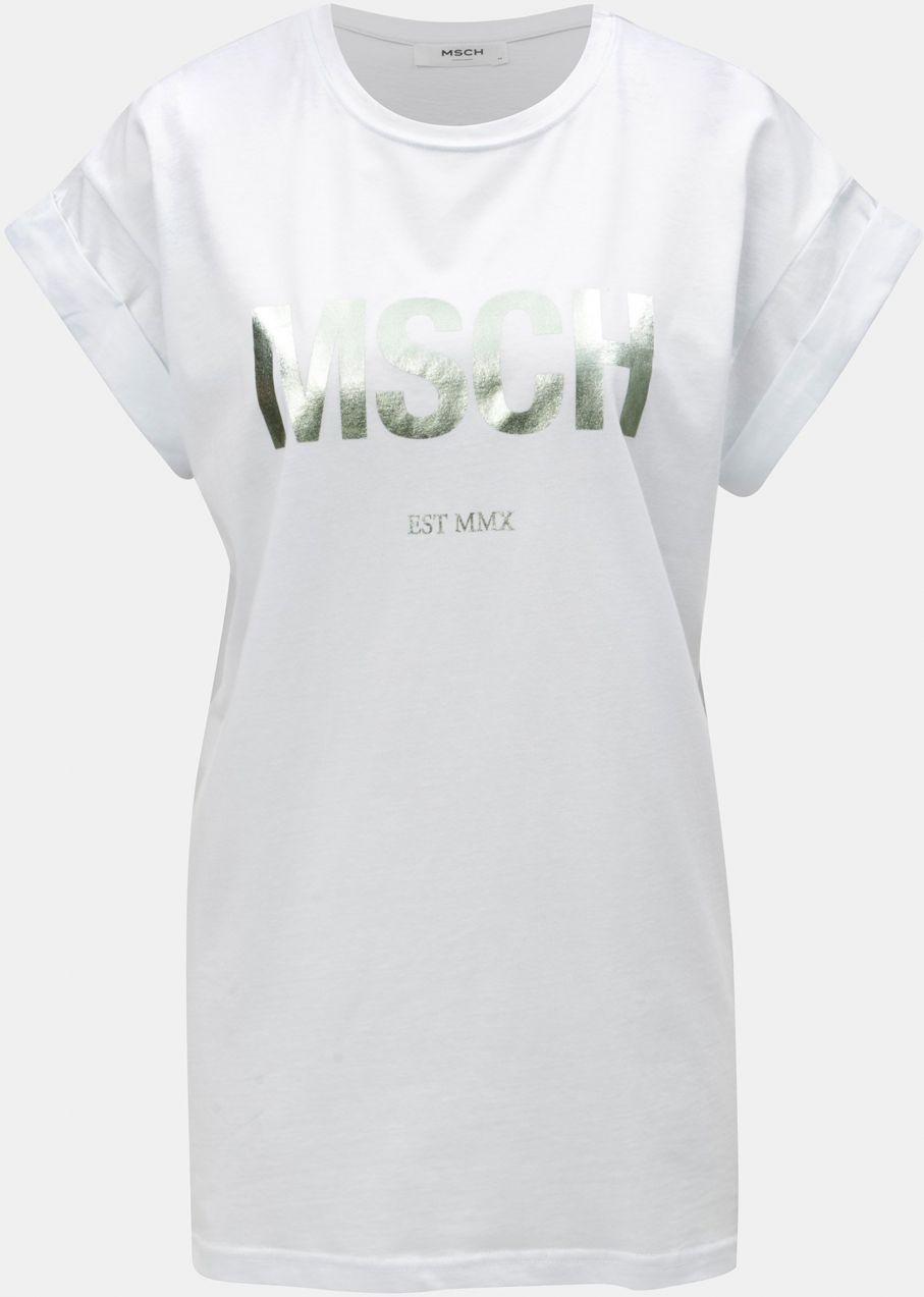be7b6ee1649d Biele voľné tričko s metalickou potlačou Moss Copenhagen Alva značky Moss  Copenhagen - Lovely.sk