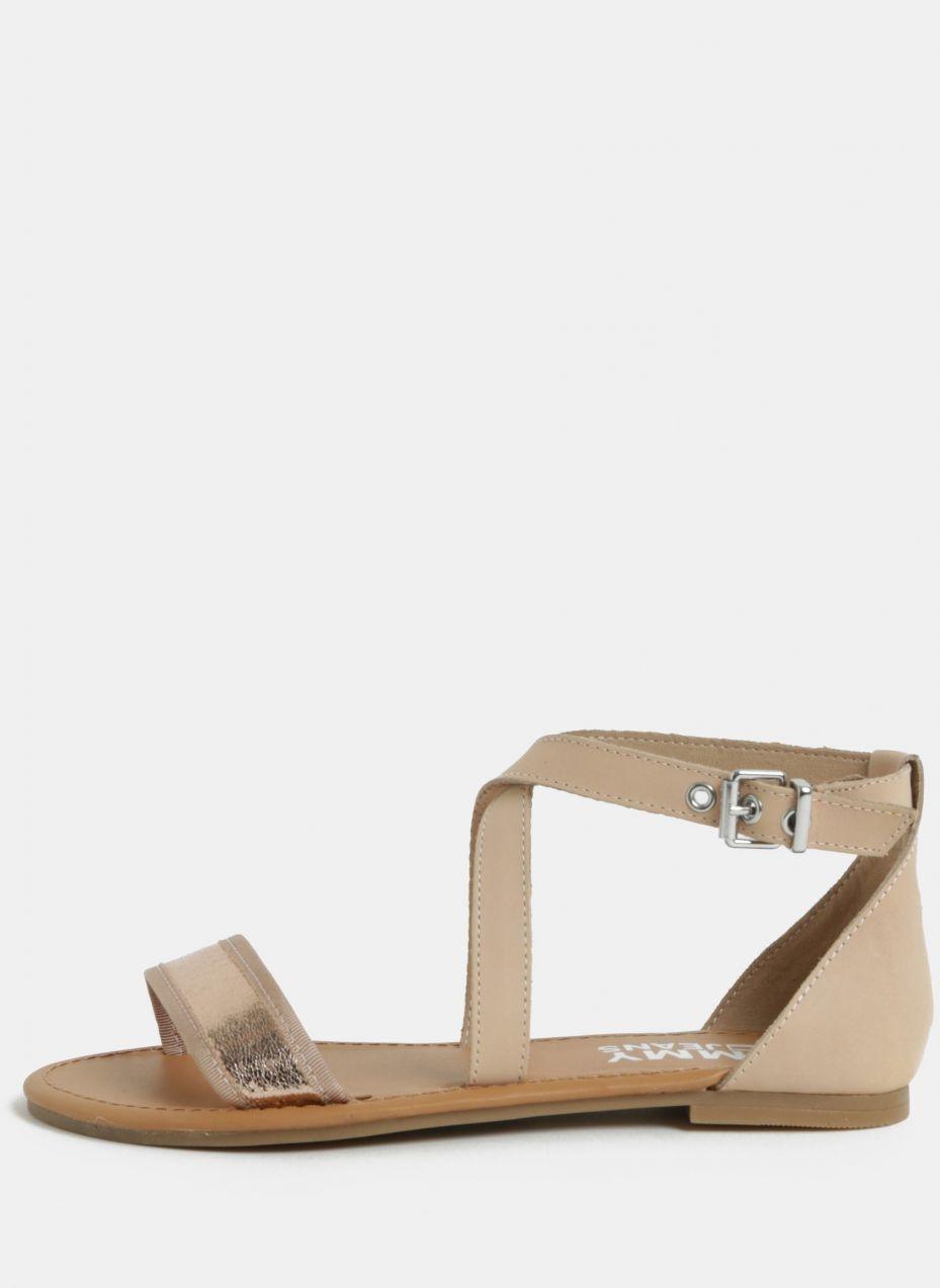 c65552e98a05 Ružové dámske kožené sandále Tommy Hilfiger značky Tommy Hilfiger ...