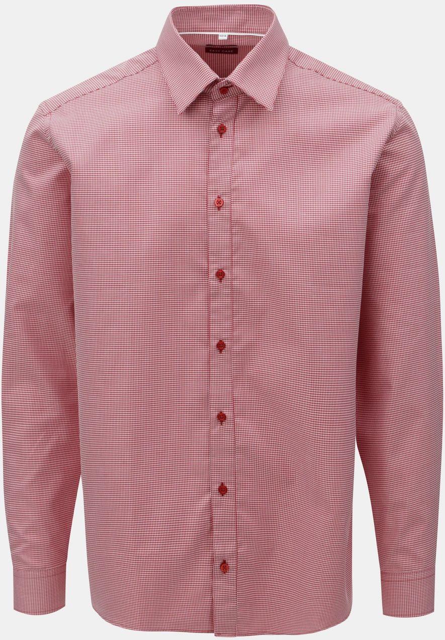 7b118726b Červená pánska vzorovaná košeľa s dlhým rukávom VAVI značky VAVI ...