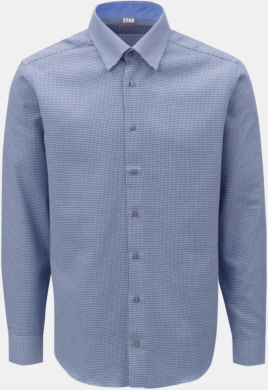 f862325594a8 Modrá pánska vzorovaná košeľa s dlhým rukávom VAVI značky VAVI ...