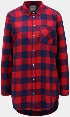 c2c5df74b4a3 Modro-červená károvaná košeľa ONLY Rock