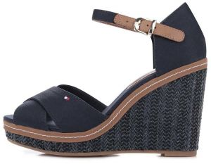 fe49bbc5d4f Modré dámske bavlnené topánky na platforme Tommy Hilfiger