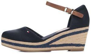 ea392123d4001 Tmavomodré dámske bavlnené topánky na platforme Tommy Hilfiger