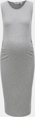 d8204f50b4e1 Sivé tehotenské melírované šaty Dorothy Perkins Maternity