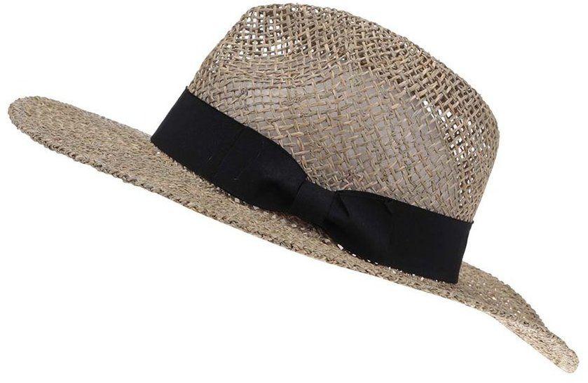 3873b1a9a Slamený klobúk s čiernou mašľou Vero Moda Ellen značky Vero Moda - Lovely.sk