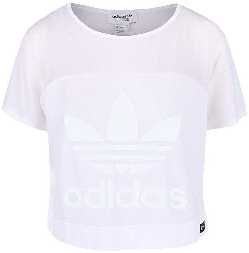 07ea8d982a5f Biele dámske krátke tričko adidas Originals Slit značky adidas Originals -  Lovely.sk