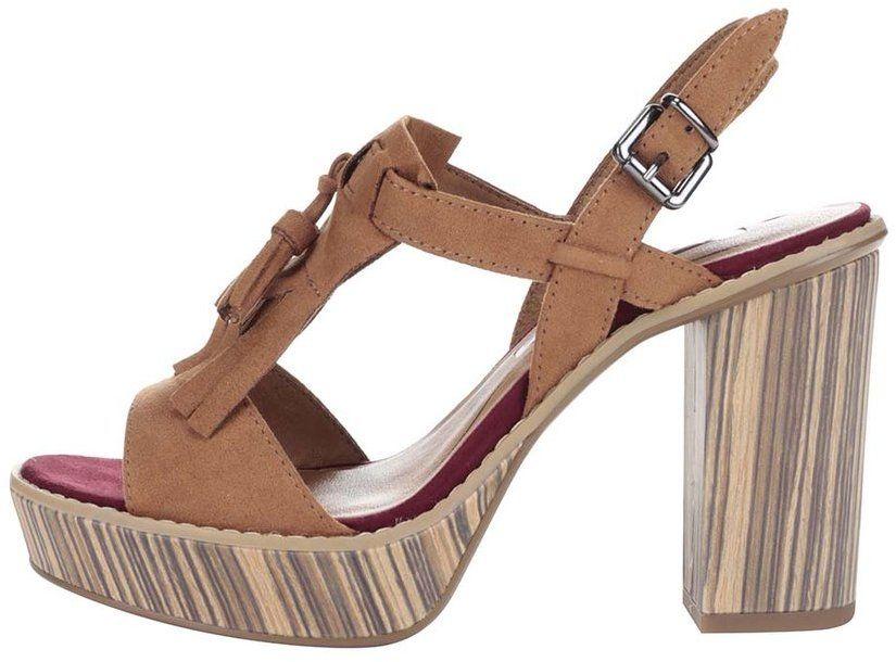 09e96bb71e51 Hnedé topánky na podpätku a platforme Tamaris značky Tamaris - Lovely.sk