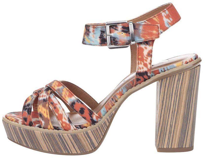 0fc95318a06b8 Farebné topánky na podpätku a platforme Tamaris značky Tamaris - Lovely.sk
