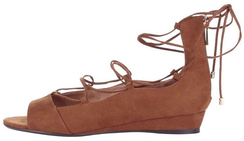 776826cfbeb00 Hnedé šnurovacie sandále na klinovom podpätku ALDO Arla značky ALDO -  Lovely.sk