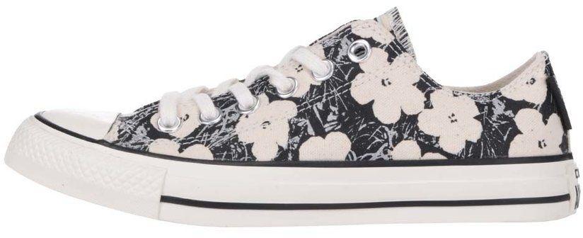 Krémovo-čierne kvetované dámske tenisky Converse Chuck Taylor All Star  značky Converse - Lovely.sk 1924c4d6964
