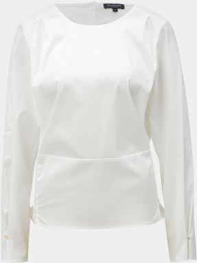 33ec71c84fb0 Biela krátka oversize blúzka Selected Femme Sabina značky Selected ...