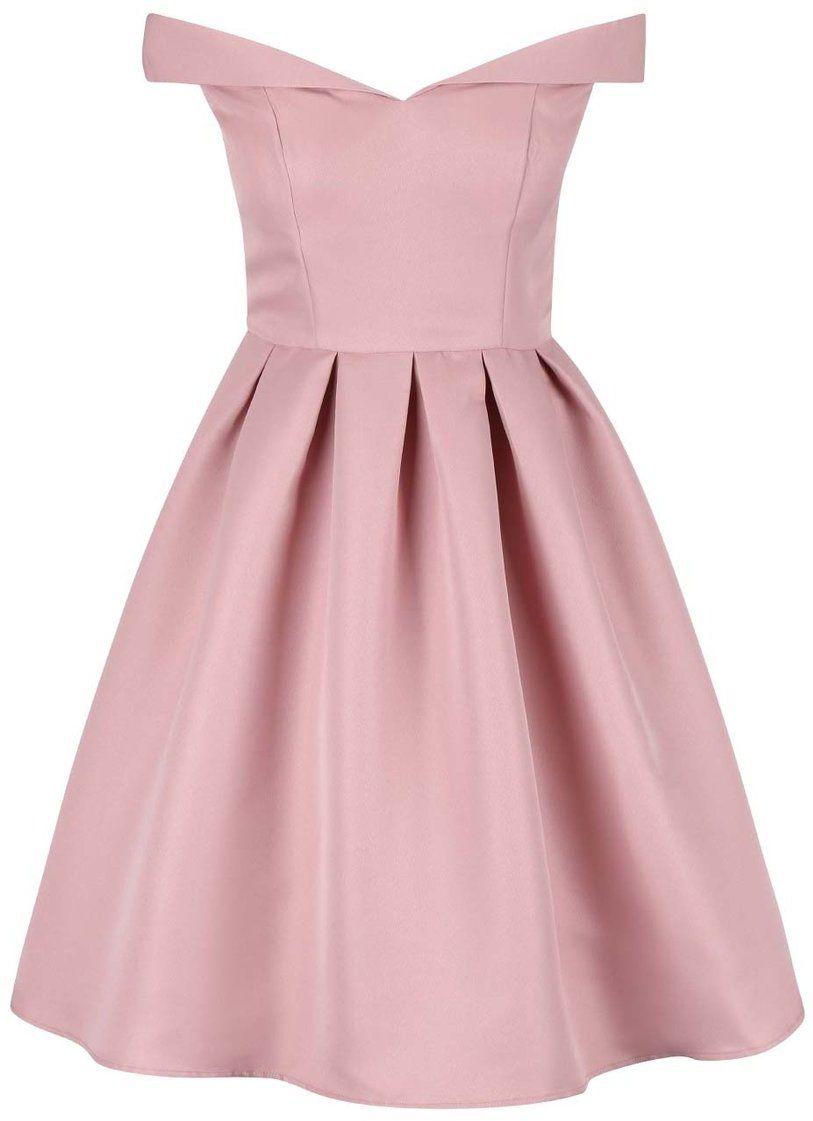 a2e9d32a0b0a Ružové šaty so spadnutými ramenami Chi Chi London Dulce značky Chi Chi  London - Lovely.sk