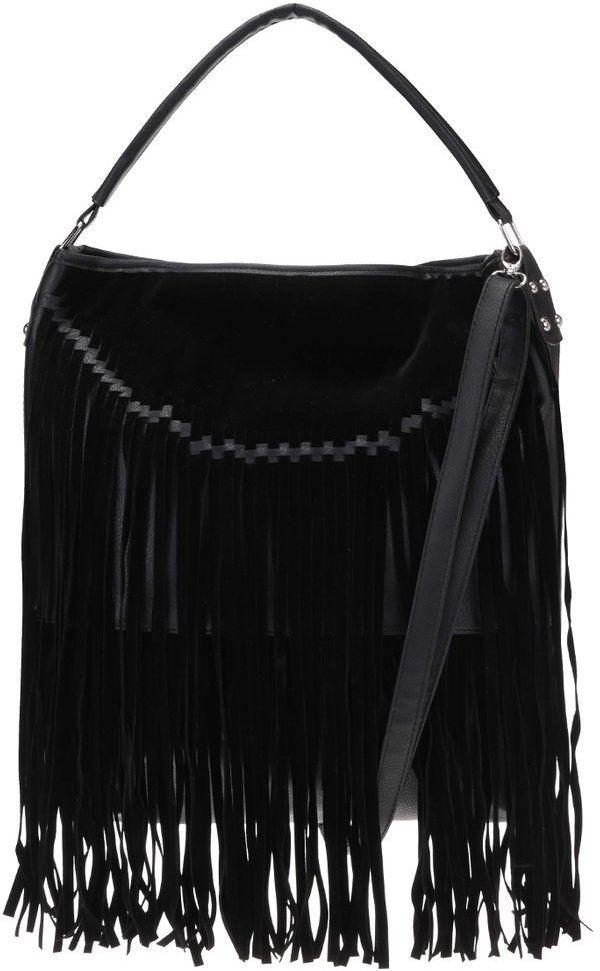 Čierna kabelka so strapcami Haily´s Franzi značky Haily´s - Lovely.sk 9ca6b5121cf