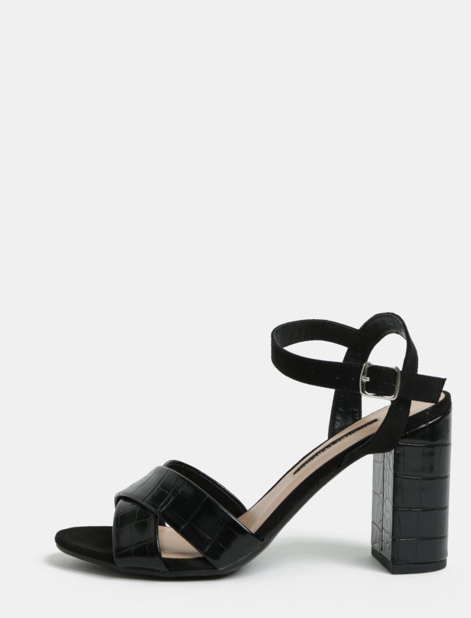 d2aeefa7f9ab Čierne sandále na vysokom podpätku Dorothy Perkins Serena značky ...
