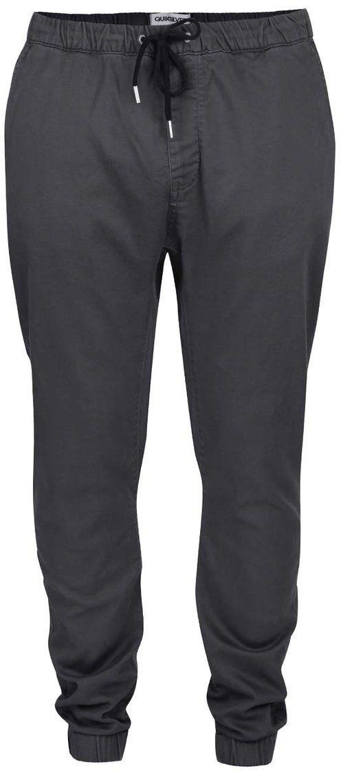 1b52a4263355 Sivé pánske nohavice so zaväzovaním Quiksilver Krandy Straight značky  Quiksilver - Lovely.sk