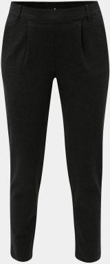 adaa7ccc4 Tmavosivé melírované skrátené nohavice s vysokým pásom Jacqueline de Yong  Betty