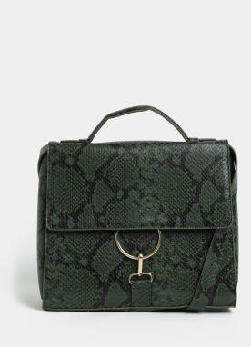 Zelená kabelka s hadím štrukturovaným vzorom VERO MODA Minna 642dc0be3f6