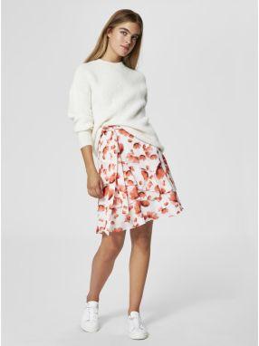 25be9323f18e Krémový sveter s prímesou vlny Selected Femme Fregina značky ...