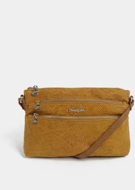 Hnedá kabelka s výšivkou Desigual Aquiles 98559983e6c