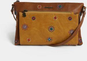 Desigual hnedá kabelka Lily Rotterdam Mini s výšivkami značky ... b6ea38d13a4