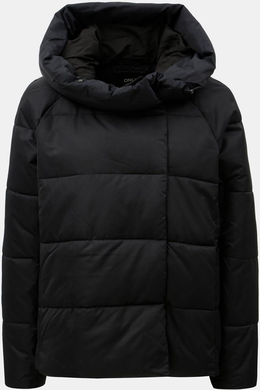 Čierna prešívaná zimná bunda s kapucňou ONLY June značky ONLY - Lovely.sk 1ba3a0f7e86