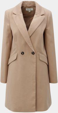 Béžový dlhý kabát Miss Selfridge 7701f4d92c2