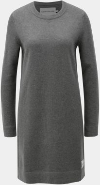 106b4763e98c Sivé svetrové šaty s prímesou vlny Calvin Klein Jeans