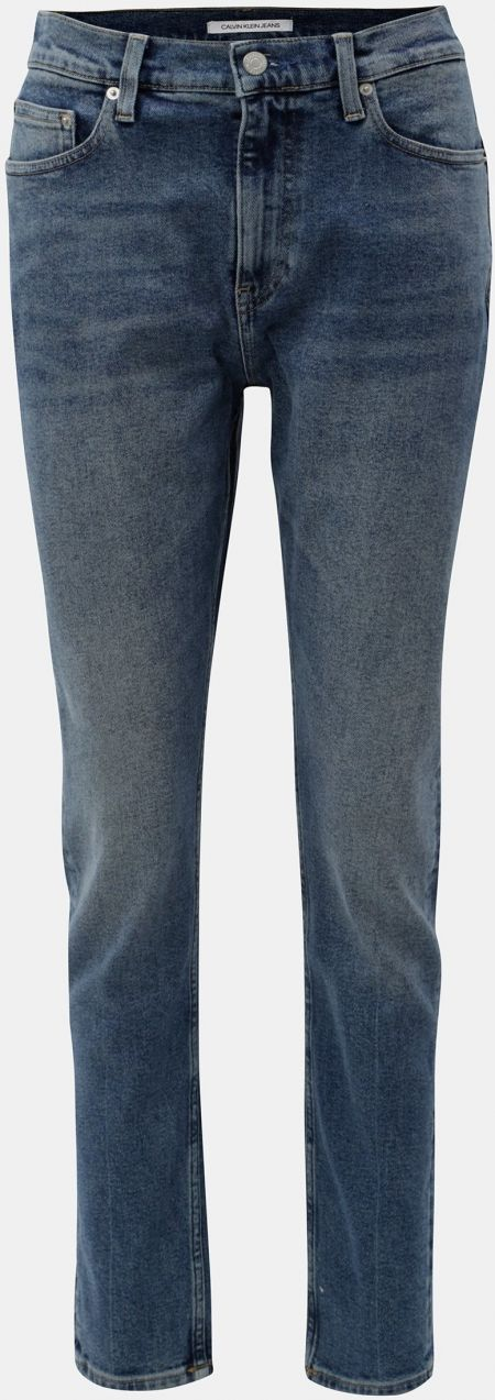 Modré dámske skinny rifle s vysokým pásom Calvin Klein Jeans značky ... eea60b3fdf