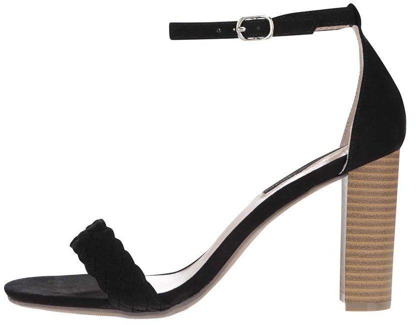 d68a21d49c07 Čierne sandále na vysokom podpätku Dorothy Perkins značky Dorothy Perkins -  Lovely.sk