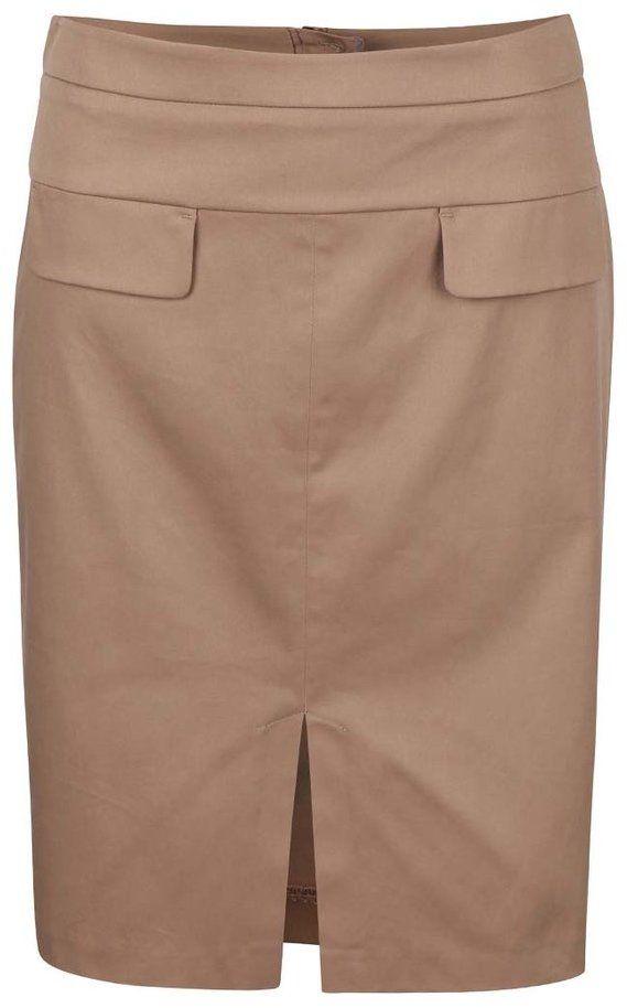a1aede0554da Béžová sukňa s rozparkom Dorothy Perkins značky Dorothy Perkins - Lovely.sk
