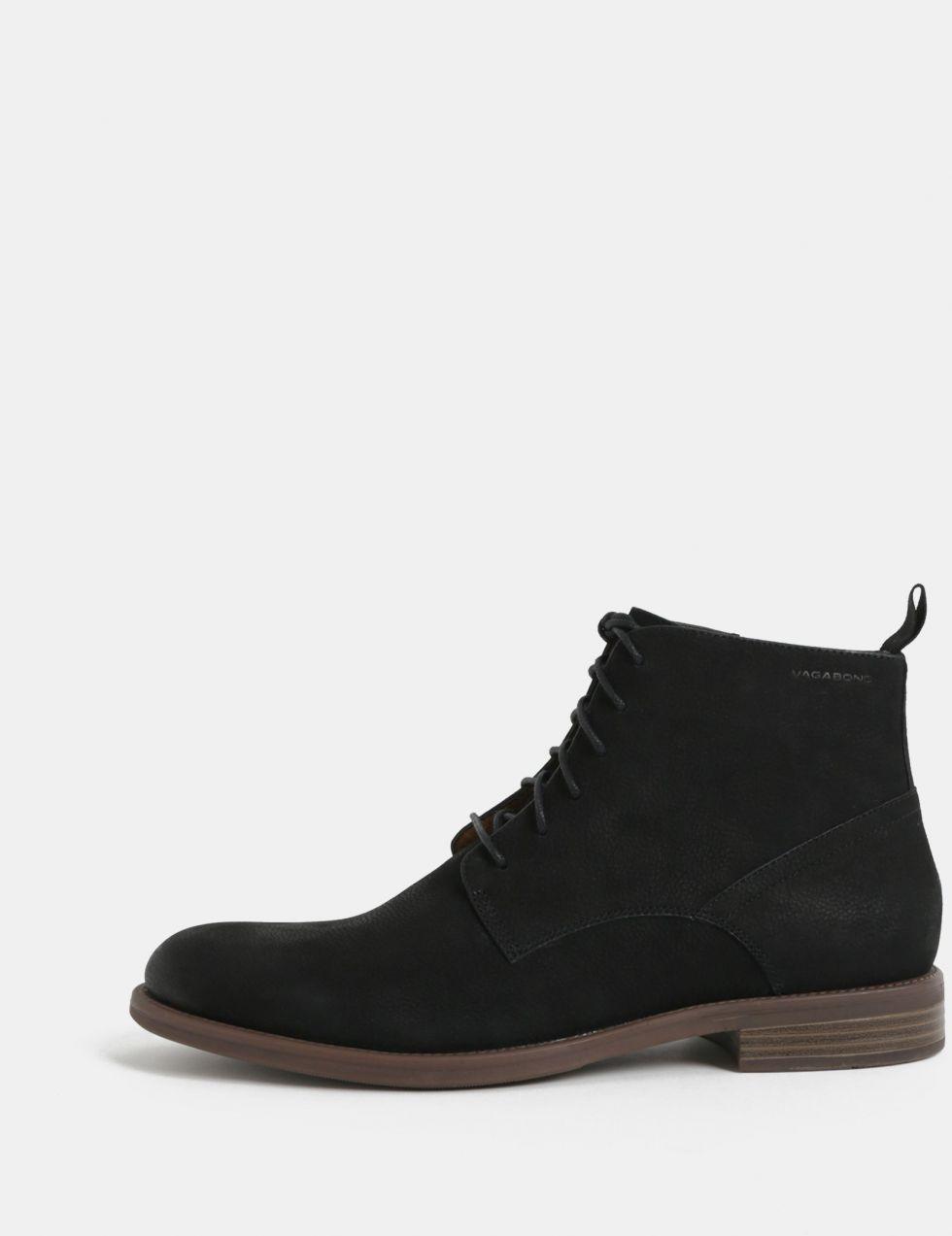 de2c23670a Čierne pánske kožené členkové topánky Vagabond Salvatore značky Vagabond -  Lovely.sk
