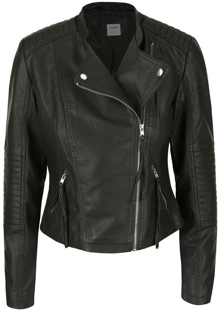 Kaki koženková bunda Vero Moda Marina značky Vero Moda - Lovely.sk 87e6fb33d75