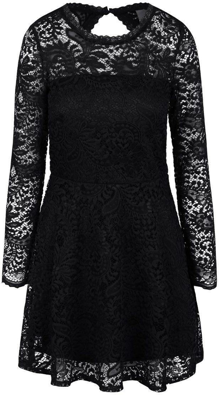 0c9427969c4a Čierne čipkované šaty s dlhým rukávom Vero Moda Celeb značky Vero Moda -  Lovely.sk