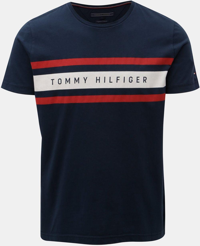 b1170aa7e0 Modré pánske tričko Tommy Hilfiger značky Tommy Hilfiger - Lovely.sk