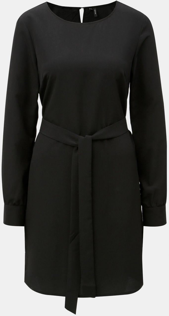 3000b2839533 Čierne šaty s dlhým rukávom VERO MODA June značky Vero Moda - Lovely.sk