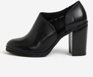 a7c5a2e3971e Čierne dámske kožené topánky na vysokom podpätku Royal RepubliQ