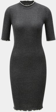 Tmavosivé svetrové šaty Dorothy Perkins 3122e7dc6bc