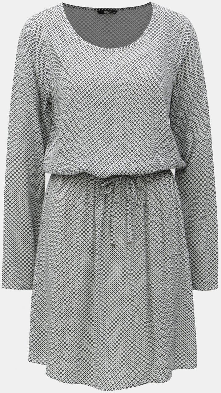 1620caa12f9a Čierno-biele vzorované šaty so sťahovaním v páse ONLY značky ONLY -  Lovely.sk