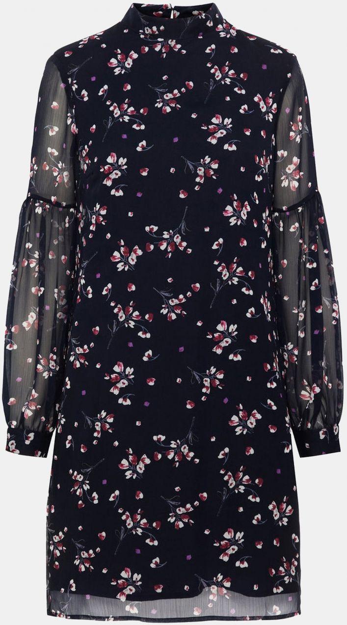 6e79fd4ed9 Tmavomodré kvetované šaty s dlhým rukávom VERO MODA značky Vero Moda ...