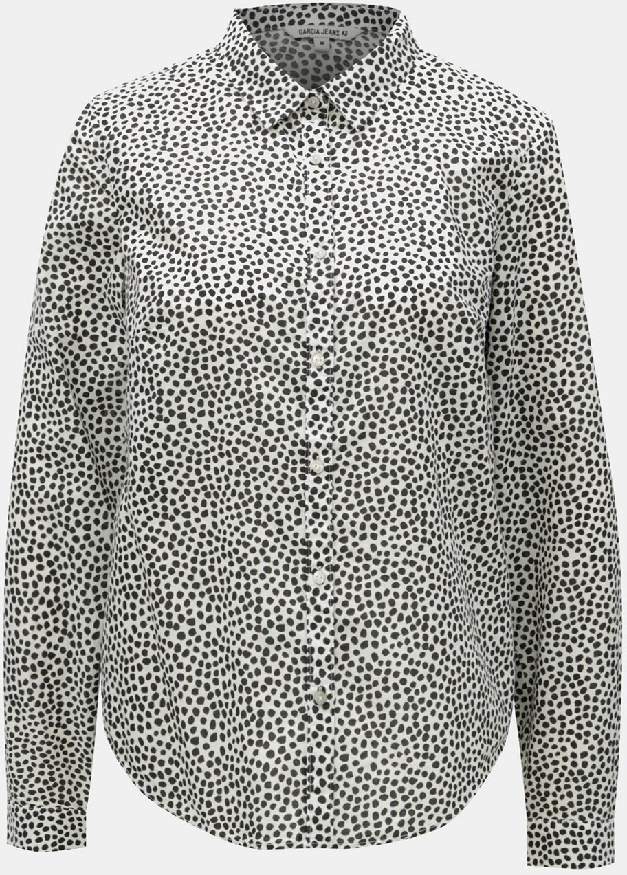 b6b804ffd983 Čierno-biela dámska bodkovaná košeľa Garcia Jeans značky Garcia ...