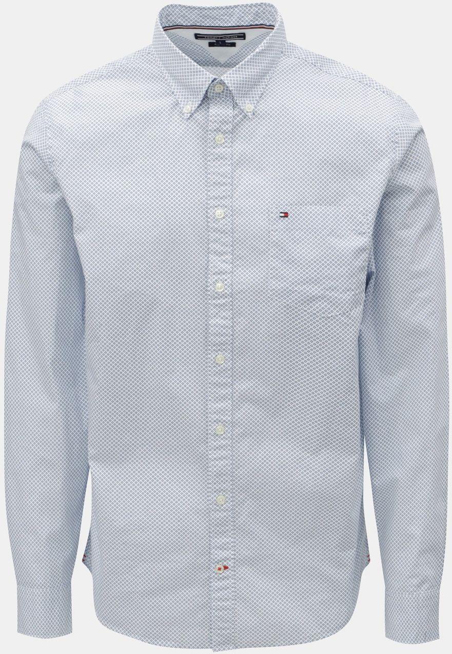597d67a5d4f1 Svetlomodrá pánska vzorovaná regular fit košeľa Tommy Hilfiger značky Tommy  Hilfiger - Lovely.sk