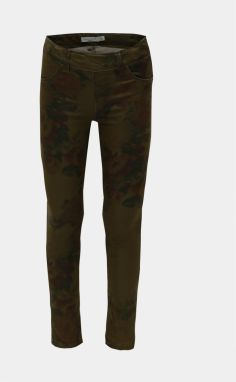 Khaki kvetované jeggings Name it Polly