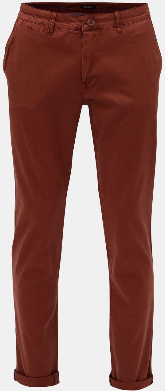 d206d1f5f3af Hnedé pánske stretch chino nohavice Garcia Jeans značky Garcia Jeans ...